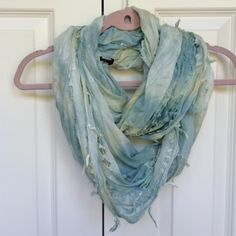 Urban Outfitters (BDG) scarf Lightweight scarf. Tie dye of light green and light yellow. Worn 0-2 times.. Not really sure. No defects at all. In great condition!! Urban Outfitters Accessories Scarves & Wraps
