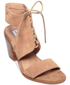 7bba882506e Steve Madden Women s Nanno Lace-Up Sandals Shoes - Pumps - Macy s