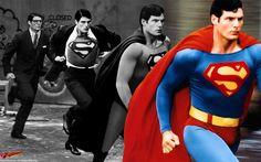 Christopher reeve as Clark Kent changing into superman. Batman Et Superman, Superman Movies, Superman Family, Superman Man Of Steel, Dc Movies, Superman Photos, Clark Superman, Superman News, Superman Logo