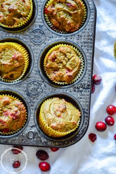 Cranberry Orange Muffins (grain free)