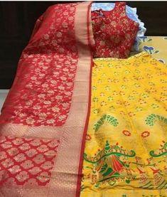 Banarasi Lehenga, Half Saree Lehenga, Silk Dupatta, Chiffon Saree, Indian Fashion Dresses, Indian Designer Outfits, Diy Diwali Decorations, Diwali Diy, Thread Work