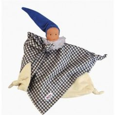 Waldorf Blanket Doll. Soft blue plaid cotton flannel. Perfect first doll for a baby! $29.95
