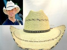c87e8cd33b068 Kenny Chesney Hat and Crease! This is a great Hat Biz Brim Palm Leaf Cowboy  Hat! Just the same as Kenny Chesney!