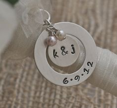 Bridal Bouquet Charm in Sterling Silver by kathykdesigns on Etsy, $35.00