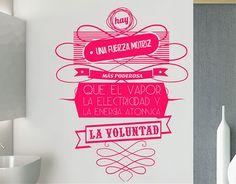 Ebre Vinil #Vinilos #adhesivos #frases de #motivación La voluntad 03197