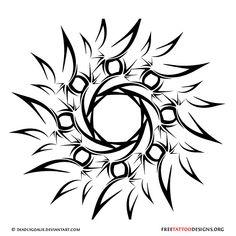 65 Sun Tattoos | Tribal Sun Tattoo Designs                                                                                                                                                                                 More