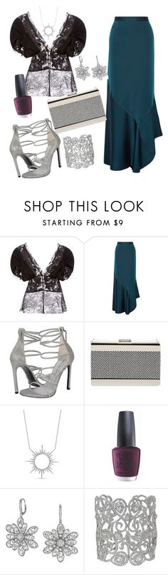 """top"" by wallaceschade ❤ liked on Polyvore featuring Rodarte, By Malene Birger, Giuseppe Zanotti, OPI and Maria Canale"