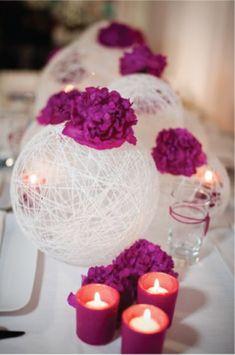 Bird nest balls with flowers