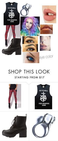 """""""Untitled #35"""" by pufferfishgal on Polyvore featuring UNIF, Charlotte Russe, Kill Star and Charlotte Tilbury"""