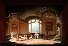 Die Fledermaus at Maryland Opera Studio, Scale Model, Scenic Design by Paig. - Die Fledermaus at Maryland Opera Studio, Scale Model, Scenic Design by Paige Hathaway. Set Design Theatre, Stage Design, Alvin Ailey, Royal Ballet, Body Painting, Maryland, Stage Set, Scenic Design, Stage Lighting