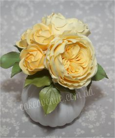 Yellow David Austin Sugar Roses