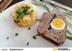 Velikonoční sekaná jednoduše a rychle recept - TopRecepty.cz Mashed Potatoes, Ethnic Recipes, Food, Whipped Potatoes, Smash Potatoes, Meals, Yemek, Shredded Potatoes, Eten