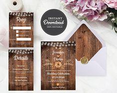 Digital Web and Print designs by Artsyly on Etsy Indian Wedding Invitations, Destination Wedding Invitations, Wedding Invitation Templates, Wedding Planner, Wedding Signs, Diy Wedding, Rustic Wedding, Wedding Ideas, Digital Invitations