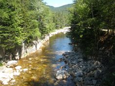 Rocky Gorge, swift river on the Kancamangus Highway NH