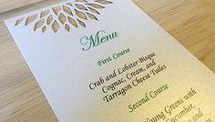 Simple Elegance Menu - The Find Sac #Wedding #WeddingAccessories #Menu #DIECUT #EcoFriendly #thefindsac