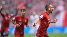 @FCBayern Franck Ribéry zaubert #FCBayern gegen Frankfurt zum Sieg. Die #Bayern begnügen sich vor dem #ChampionsLeague, Viertelfinale mit einem Arbeitssieg. Ribery erlegt tapfere Frankfurter per Traumtor #9ine