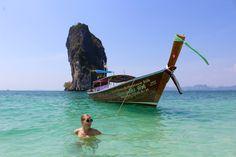 Poda Island Beach Girl Swim Krabi Thailand www.tenesommer.com
