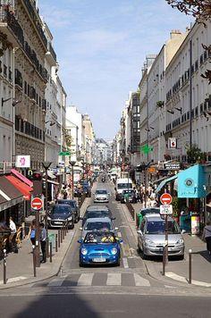 rue du Commerce - Paris 15ème ... Vue depuis l'église Saint-Jean-Baptiste de Grenelle