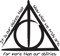 The Deathly Hallows 'Harry Potter And The Deathly Hallows' Vinyl Sticker by BESPOKEOFIVE on Etsy https://www.etsy.com/uk/listing/482180522/the-deathly-hallows-harry-potter-and-the