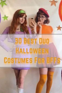 30 Best Duo Halloween Costumes For BFFs Velma Halloween Costume, Goofy Costume, Duo Costumes, Disney Costumes, Best Friend Halloween Costumes, Last Minute Halloween Costumes, Halloween Outfits, Halloween Inspo, Cher And Dionne