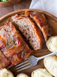 Low FODMAP & Gluten free Recipe - Beef & bacon meatloaf http://www.ibssano.com/low_fodmap_recipe_beef_bacon_meatloaf.html