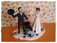 Le Creazioni di Sasha: Cake Topper Sposi Palestrati , matrimonio personal...