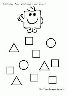 """Résultat de recherche d'images pour """"formes géométriques maternelle à imprimer"""""""