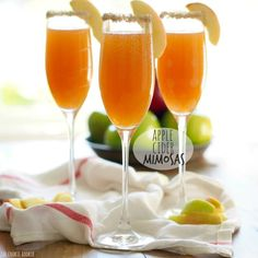 Apple Cider Mimosas! These are AMAZING. Apple Cider was meant to be paired with champagne! Fun cocktail for fall and winter.
