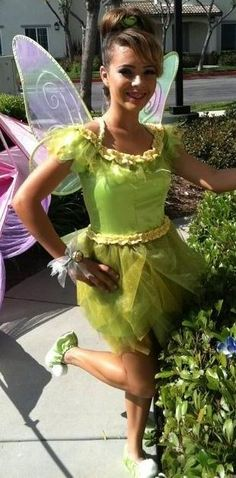 Home-Made Teenager Tinkerbell Costume