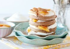 Thank you Bree Hester for this delicious Peaches and Cream Waffle Stacks Recipe | Van's Natural Foods