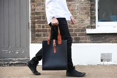 The man bag of the season - Talbot tote Leather Satchel, Leather Pants, Talbots, Parka, Shop Now, London, Unisex, Tote Bag, British