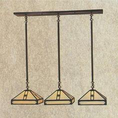 PICH-11-3 Arroyo Craftsman Eleven-inch Pasadena Three-Light In-Line Chandelier