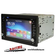 Consola de Coche Navegador GPS Stereo DVD Bluetooth iPod MP3 TV + Cámara 1080P -- 145,22€