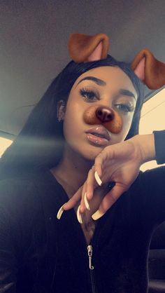 black, doggy, and filter image Queen Makeup, Glam Makeup, Beauty Makeup, Hair Beauty, Eye Makeup, Black Girls Rock, Black Girl Magic, Snapchat Dog Filter, Bad And Boujee Outfits