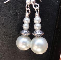 #etsyfollow #pearl earrings