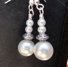 #etsyfollow #pearl earrings