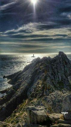 Le Raz de Sein vu depuis la côte. Finistère.