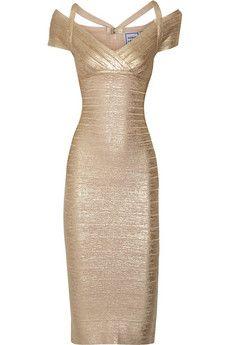 Herv� L�ger Kelis metallic bandage dress | THE OUTNET