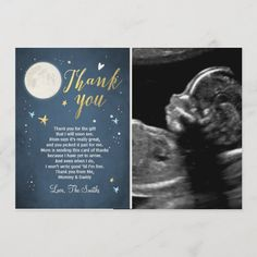Baby Shower Thank You Card Love You to the Moon Star Baby Showers, Baby Shower Fun, Fun Baby, Shower Party, Boy Birthday Invitations, Baby Shower Invitations, Baby Shower Thank You Gifts, Baby Gifts, Halloween Movie Night
