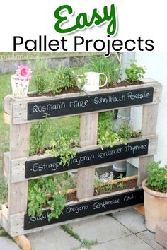 Pallet Projects - 19+ Clever, Crafty and Easy DIY Pallet Ideas Impressive & Unique Pallet Ideas and Instructions • These pallet projects are so creative! Some are quick and easy pallet projects that even beginners can do