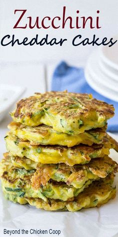 Shredded zucchini and cheddar cheese create a lovely side dish in these zucchini. - Shredded zucchini and cheddar cheese create a lovely side dish in these zucchini cheddar pancakes. Diet Recipes, Vegetarian Recipes, Cooking Recipes, Healthy Recipes, Jiffy Mix Recipes, Recipies, Bacon Recipes, Cooking Food, Curry Recipes