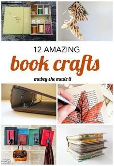 Turn and old book into book crafts. Make a book page wreath, book art, book box, or just repurpose--these book craft ideas will inspire (and teach) you.