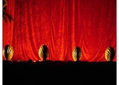 Brass Theatre Shell Footlights - £13 per week