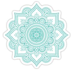 'Mandala' Sticker by Samado Mandala Doodle, Mandala Drawing, Mandala Painting, Dot Painting, Tumblr Stickers, Cute Stickers, Apple Laptop Stickers, Mandala Thigh Tattoo, Dibujos Tattoo