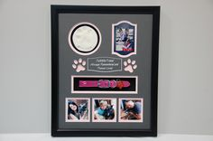 16 x 20 Pet Memorial Shadow Box Frame 16 x 20 Pet Memorial Shadow Box Frame care x Dog Memorial w/ Ceramic Paw Print and Dog Collar. Dog Shadow Box, Shadow Box Frames, Shadow Box Display Case, Dog Memorial, Memorial Ideas, Memory Frame, Pink Photo, Pet Memorials, Losing A Pet