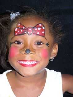 Facepainting.  Minnie, of course!