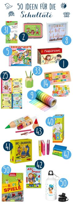 50 affordable ideas for the school bag for schooling for ABC -.- 50 inexpensive ideas the content for the school bag for schooling for ABC children! / School enrollment – 50 great ideas for the school bag # schooling # school # learning # school bag Schuler Cabinets, School Enrollment, Abc For Kids, Diy Gifts For Kids, Kids Education, School Bags, Organizers, Diys, About Me Blog