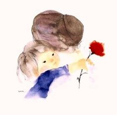 Chihiro Iwasaki Mother and Child Mother Daughter Art, Mother Art, Mother And Child, Mom Son, Love Mom, Mothers Love, Happy Mothers Day, Art Floral, Art Mignon