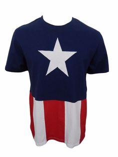 RARE Mad Engine Captain America Shirt Size L Large Marvel Comics Stitched Cotton #Marvel #GraphicTee