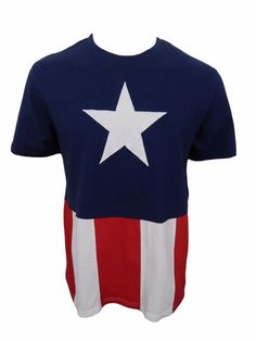 RARE Mad Engine Captain America Shirt Size L Large Marvel Comics Stitched Cotton #Marvel #GraphicTee